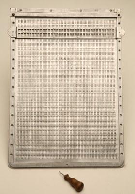 Pauta braille de aluminio